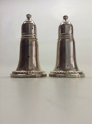 Vintage Pair Reed And Barton Sterling Silver Salt & Pepper Shakers