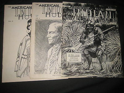 The American Indian Hobbyist 3 issues 1958-59      bk