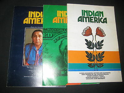 Indian America 3 issues from 1974 to 1976  bk