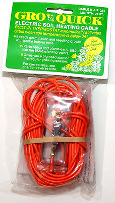 Soil Heating Warming Cable w/ Thermostat 48 Foot Economy Plant - USA Made!