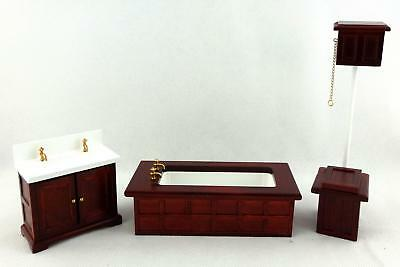 Melody Jane Dolls Houses Wooden Furniture Victorian Mahogany Bathroom Suite