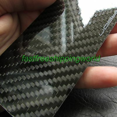 3D Real Carbon Fiber Back Rear Cover Plate Skin 3M Sticker for Apple iPhone 4 4S