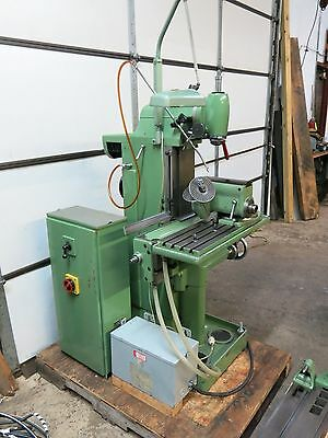 Deckel FP1 Universal Milling Machine with Collets, Arbors, Dividing Head Etc