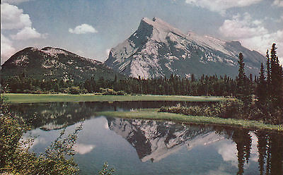 Post Card - Banff National Park / Mount Rundle from Vermillion Lake