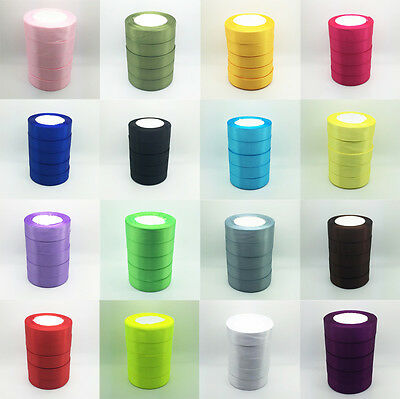"New Wholesale 5 yards 1"" 25mm Bulk Satin Ribbon DIY Craft sewing Supplies crafts"
