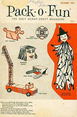 "Scrap-Craft Magazine Pack-O-Fun Halloween Decorations ""Mad"" Masks Costumes 1965"