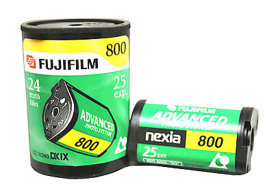 15 X Fujifilm Fuji Nexia 800 ISO Nexia 800-25 25 Exposures Per Roll