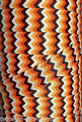 "5 yds 1.5/"" ORANGE /& ORANGE DIAGONAL STRIPE THANKSGIVING FALL GROSGRAIN RIBBON"