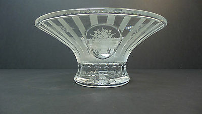 "RARE HAWKES AMERICAN CUT GLASS BOWL, ""SHERATON"" PATTERN, SIGNED,  c. 1920"
