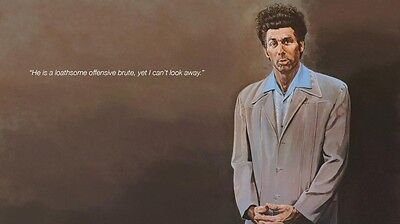 "Seinfeld Cosmo Kramer Actor Star Fabric poster 24"" x13""  Decor 04"