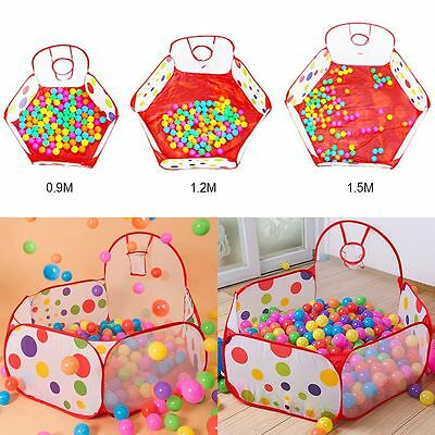 Outdoor Indoor Kids Game Play Child Toy Tent Portable Ocean Ball Pit Pool 3Sizes