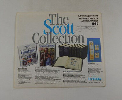 The Scott Collection Minuteman #21 1989 Supplement 180S089 Stamp Album Pages