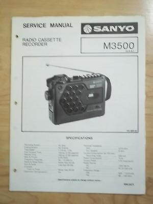 Sanyo Service Manual for the M3500 Cassette Recorder