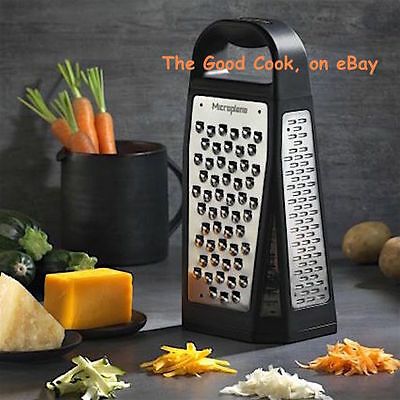 New  Microplane 5 in 1 Elite Box Grater Zester Slicer Tool  Stainless Steel  USA