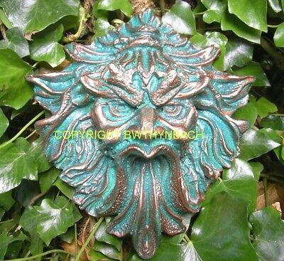 New Rubber Latex Mould Moulds Mold Pagan Wiccan Green Man Greenman Wall Plaque 4