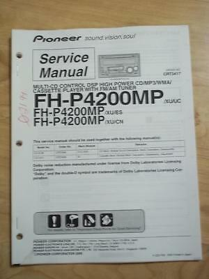 Pioneer Service Manual for the FH-P4200MP Car Stereo System   mp  ~ Original