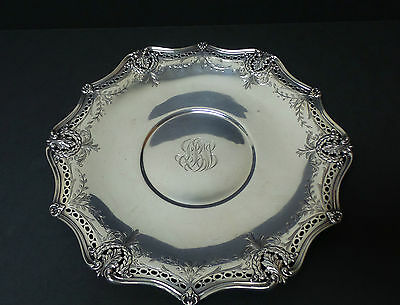 """ANTIQUE MATTHEWS STERLING SILVER 12"""" PLATTER / TRAY, c. EARLY 1900's"""