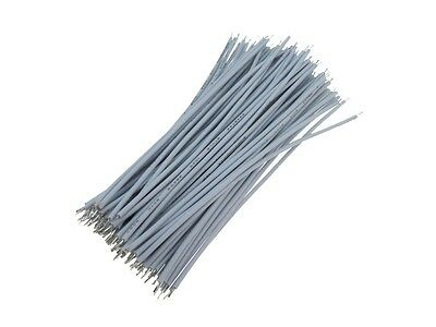 【10CM】 28AWG Standard Jumper Wire Pre-cut Pre-soldered - White - Pack of 100