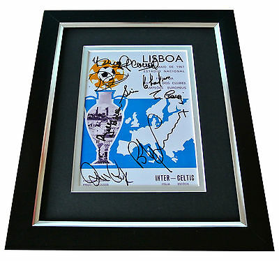 Celtic 1967 Signed 10x8 FRAMED Photo Autograph x7 Display European Cup 1967 COA