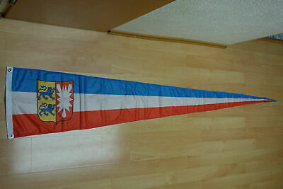 Fahnen Flagge Schleswig Holstein Wimpel Langwimpel - 37 x 250 cm