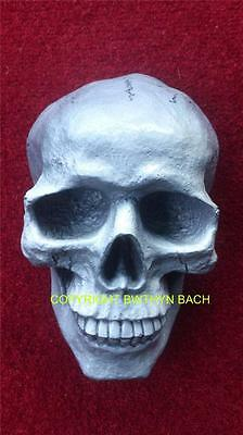 New Design Rubber Latex Mould Moulds Mold Detailed Large Human Skull Wall Plaque