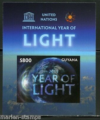 Guyana Int'l Year Of Light  Souvenir Sheet Imperforated Mint Nh