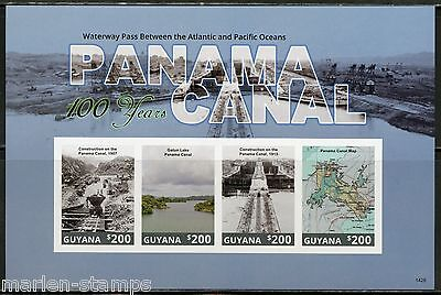 Guyana Centenary Of The Panama Canal  Souvenir Sheet  Imperforated Mint Nh
