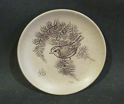 Poole Pottery Stoneware Plate, Robin In A Pine Tree ,barbara Linley Adams