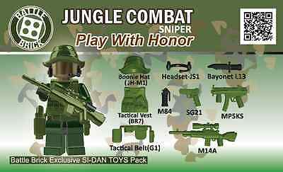 Battle Brick - Jungle Combat Sniper - Accessory Kit for Lego BLOW OUT!!!