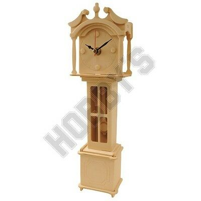 Grand Father Clock: Wood Craft Assembly Wooden Construction Clock Kit