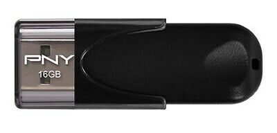 PNY Attache 4 16GB USB 2.0 Flash Stick Pen Memory Drive - Black