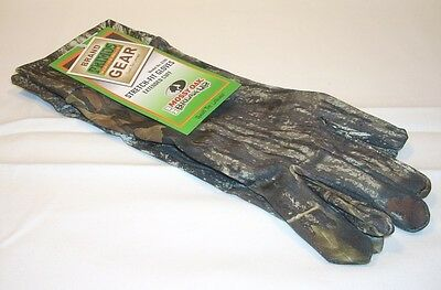 Primos Mossy Oak Stretch Fit Extended Cuff Camo Hunting Camouflage Gloves 6395