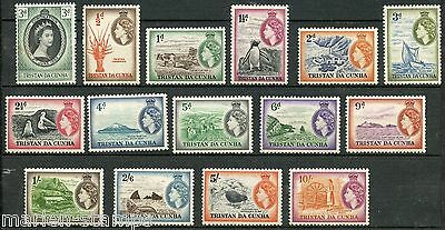 Tristan Da Cunha Sc#13/27  Mint Never Hinged Full Original Gum