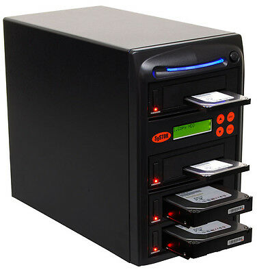 "Systor HDD/SSD Duplicator 1:3, Dual Port - Copy & Erase 3.5"" & 2.5"" Hard Drives"