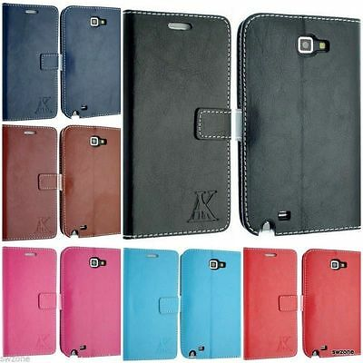 Samsung Galaxy Note 1 Gt-N7000 I9220 Case Cover Flip Pouch Free Screen Protector
