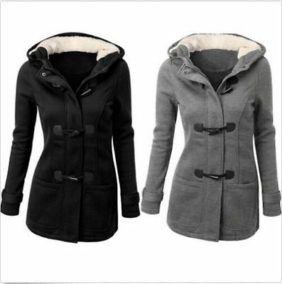 neu damen warme mantel jacke coat mit kapuze wollmantel wintermantel. Black Bedroom Furniture Sets. Home Design Ideas