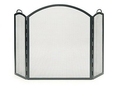 Achla Arched Three-Part Folding Screen Wrought Iron- SSS-05 Fire Screen NEW