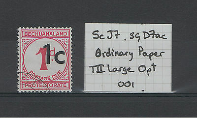 BECHUANALAND POSTAGE DUES Mint & Used. Choice of stamps