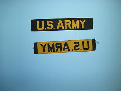 b0786 Vietnam US ARMY  Tape issue made woven gold
