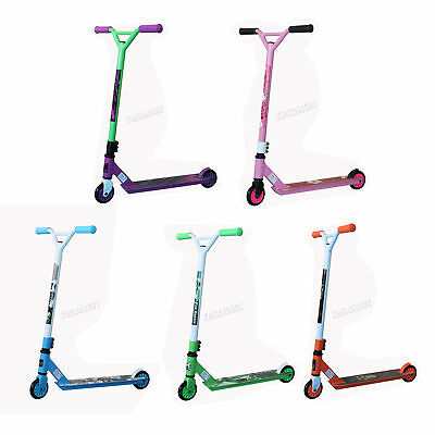 FoxHunter Kids Adult Pro Push 360 Degree Fixed Bar Stunt Scooter Trick ABEC 5