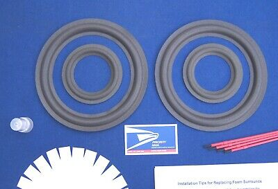 Realistic Optimus T120 Speaker Foam Surround Repair Kit / Woofer & Mid Refoam