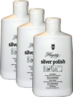 3-PACK Hagerty's Premium Silver Polish  -3 Large 8oz Bottles- Polish and Protect