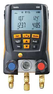TESTO 0563 1550 Digital Manifold Gauge, Supr Heat, 2Valves