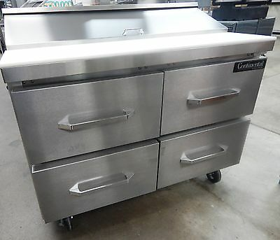 "SW4812D Refrigerated Sandwich Salad Unit 48"" wide with Drawers 12 Pans"