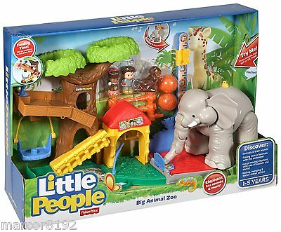 Fisher-Price Little People Big Animal Zoo With Sound New