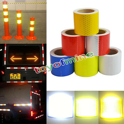 NEW 3M / 5M Reflective Safety Warning Conspicuity Tape Film Sticker Multi color