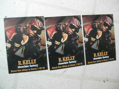 R. KELLY (5) 'Chocolate Factory' 2003 PROMOTIONAL POST CARDS NEW/MINT