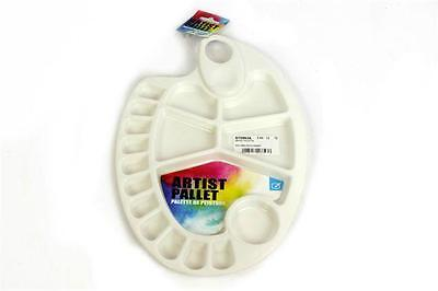 Artist Kidney Shape Pallet Paint Palette Plastic Thumb Hole Art & Craft Supplies