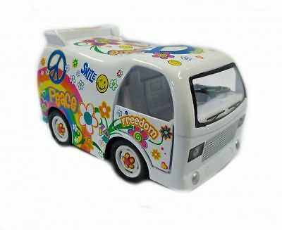 Hippi Bus Dream Car Modellauto weiß Kinsfun