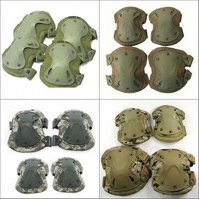Original Military CS Tactical Adjustable Knee&Elbow Gear Pads Airsoft Protective